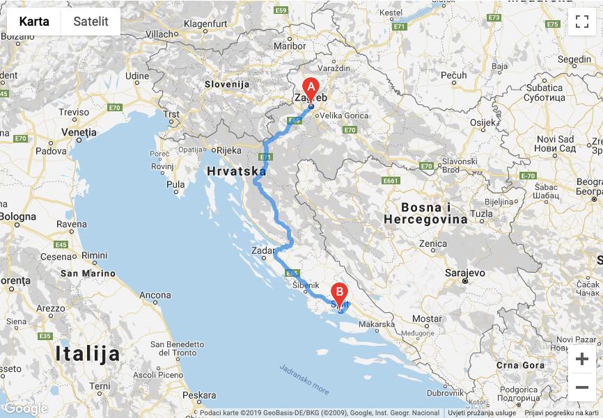 Karta Autocesta Karta Hrvatske